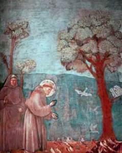 San Francesco predica agli uccelli.